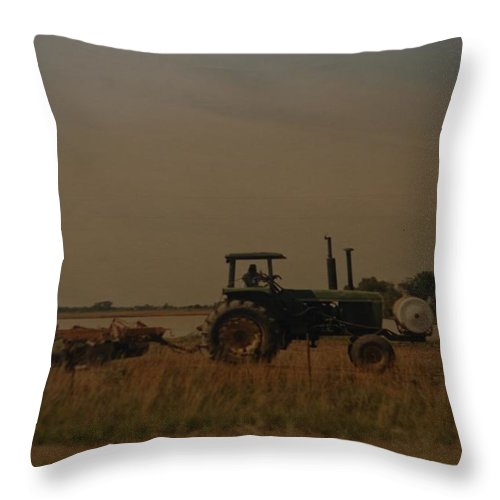 Arkansas Throw Pillow featuring the photograph John Deere Arkansas by Rob Hans