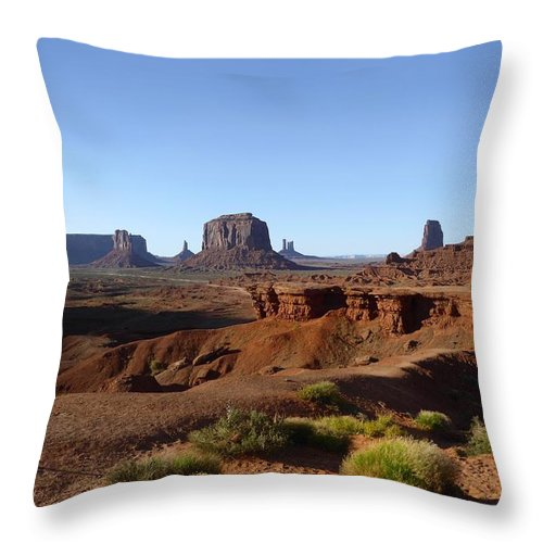John Ford Point Throw Pillow featuring the photograph John Ford Point by Gordon Beck
