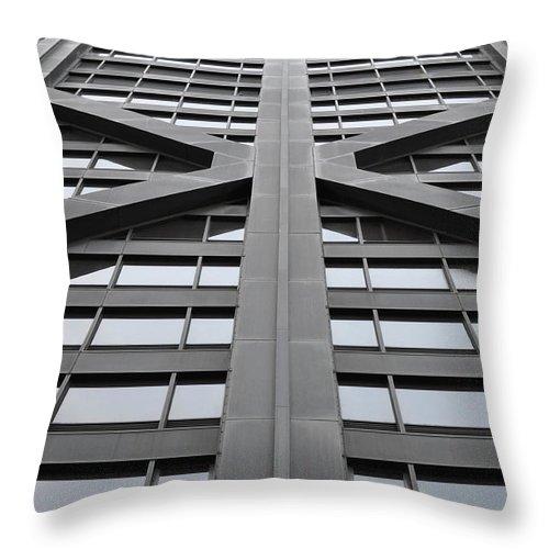 John Hancock Building Throw Pillow featuring the photograph John Hancock Building by Mary Machare