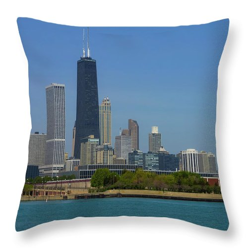 America Throw Pillow featuring the photograph John Hancock Center Chicago by Jennifer White