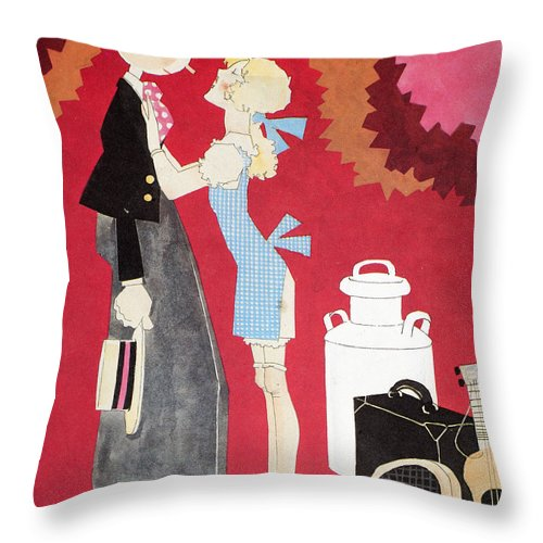 America Throw Pillow featuring the photograph John Held, Jr. Cartoon by Granger