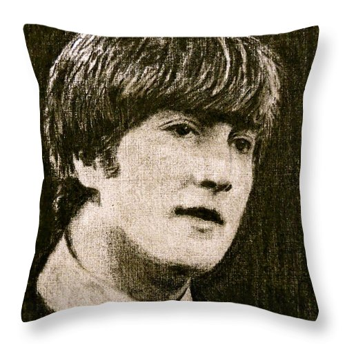 Musician Throw Pillow featuring the drawing John by Jorge Rodriguez