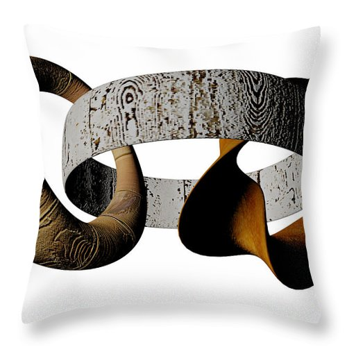 Circle Throw Pillow featuring the digital art Join Circles by R Muirhead Art