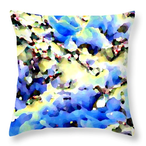 Abstract Throw Pillow featuring the digital art Jolly Winter Blues by Will Borden