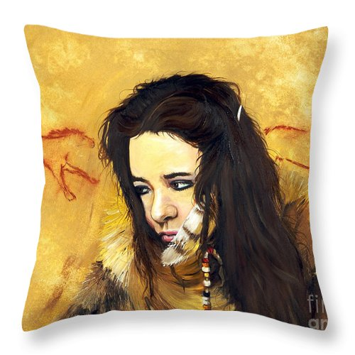 Southwest Art Throw Pillow featuring the painting Journey by J W Baker