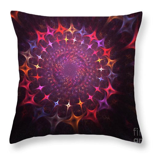Souls Throw Pillow featuring the painting Journey Of The Souls by Steve K