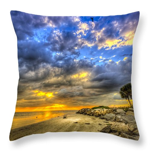 Cove Throw Pillow featuring the photograph Journey To The Sunset by Marvin Spates