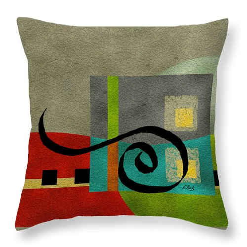 Contemporary Throw Pillow featuring the painting Joy by Gordon Beck