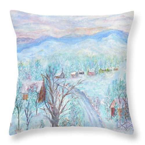Winter Throw Pillow featuring the painting Joy of Winter by Ben Kiger