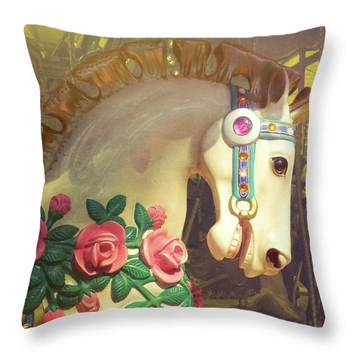 Horse Throw Pillow featuring the photograph Joy Rider by JAMART Photography