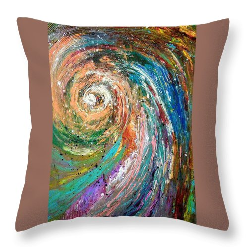 Spinning Colors Throw Pillow featuring the painting Joy by Valerie Josi