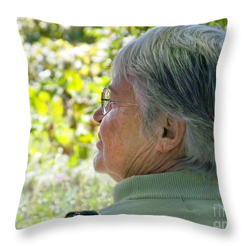 Throw Pillow featuring the photograph Joyce Photo by Joy Underhill