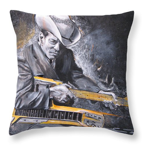 Jr. Brown Throw Pillow featuring the painting Jr. Brown by Eric Dee