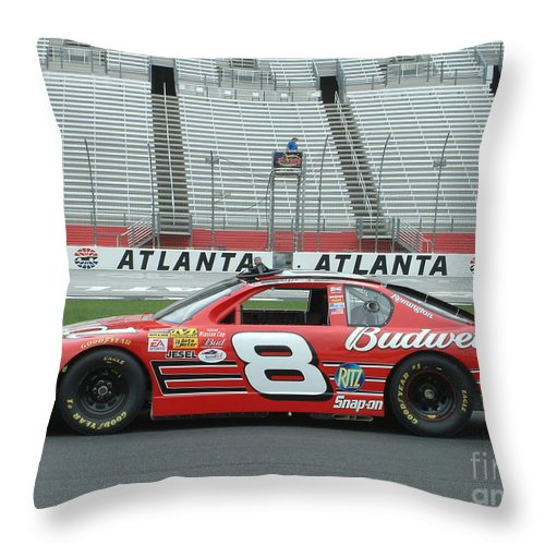 Nascar Throw Pillow featuring the photograph Jr. by Mark Grayden