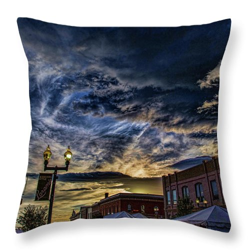 Throw Pillow featuring the photograph Jubilee Days by Robert Kirkwood