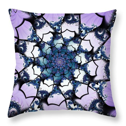 Clay Throw Pillow featuring the digital art Julia by Clayton Bruster
