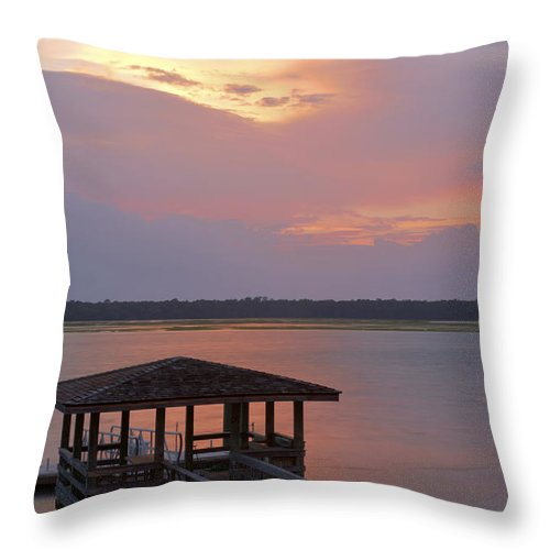 Sunset Throw Pillow featuring the photograph July Evening by Phill Doherty