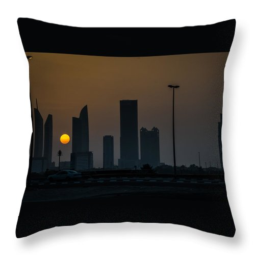 Landscape Throw Pillow featuring the photograph July Sunset On The Persian Gulf by Emmanuel Sanni
