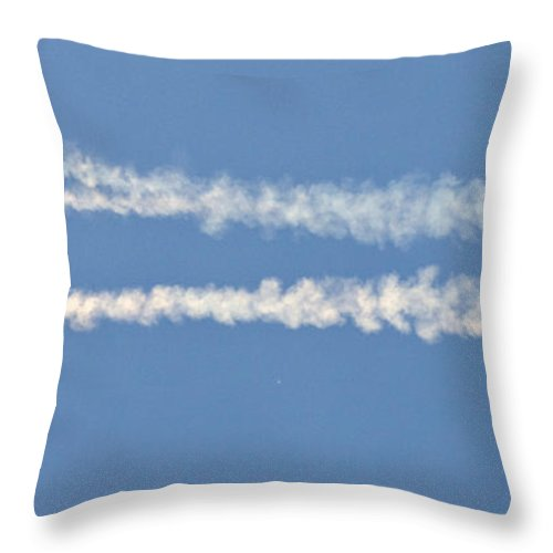Helicopter Throw Pillow featuring the photograph Jumpers by Angel Ciesniarska