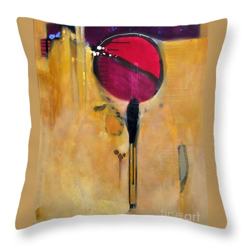 Abstract Throw Pillow featuring the painting Jumpin Jehosaphat by Marlene Burns