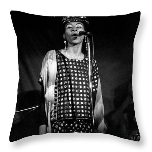 June Tyson Throw Pillow featuring the photograph June Tyson by Lee Santa