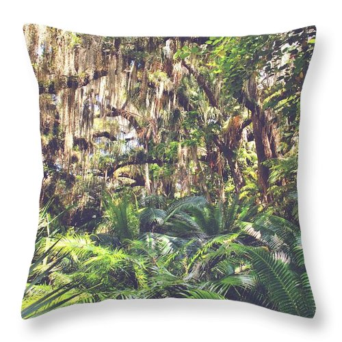 Jungle Throw Pillow featuring the photograph Jungle by Ingrid Zagers