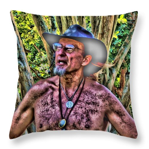 Man Throw Pillow featuring the digital art Jungle Mission by Vincent Green