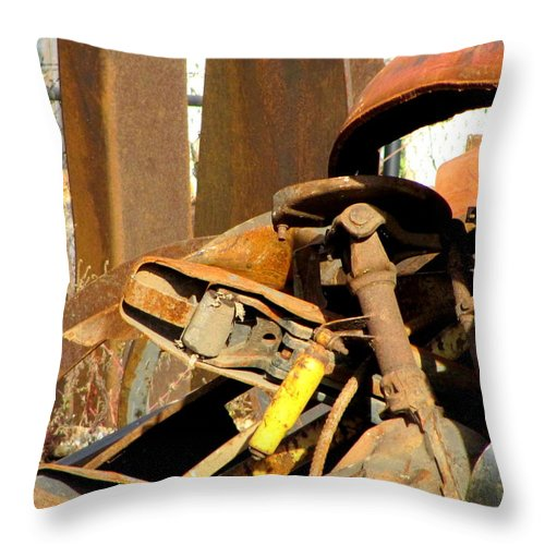 Photo Throw Pillow featuring the photograph Junk 15 by Anita Burgermeister