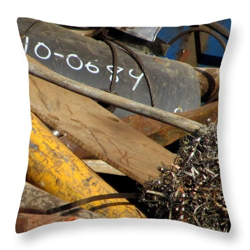 Photo Throw Pillow featuring the photograph Junk 16 by Anita Burgermeister