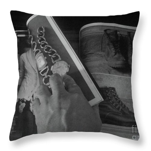 Magazine Throw Pillow featuring the photograph Junk Mail To You...love My Catalogs by WaLdEmAr BoRrErO