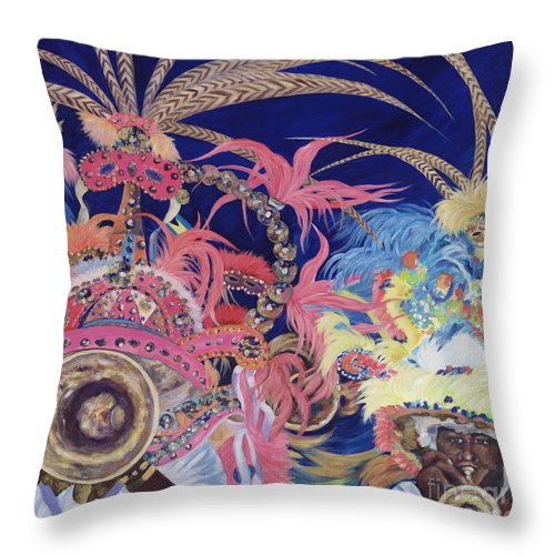 Bahamas Throw Pillow featuring the painting Junkanoo by Danielle Perry