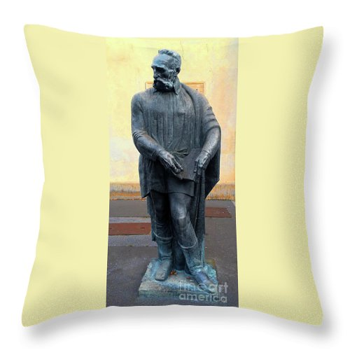 Juraj Julije Klović Throw Pillow featuring the photograph Juraj Julije Klovic, Zagreb by Jasna Dragun