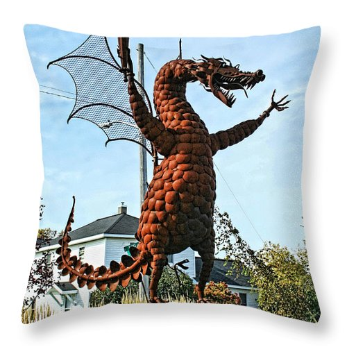 Jurustic Park Throw Pillow featuring the photograph Jurustic Park - 1 by Tommy Anderson