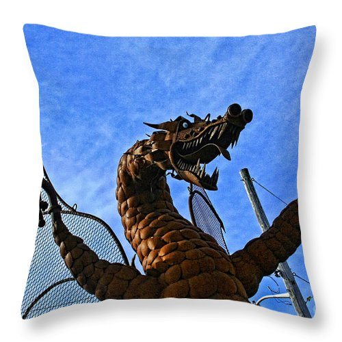 Jurustic Park Throw Pillow featuring the photograph Jurustic Park - 2 by Tommy Anderson
