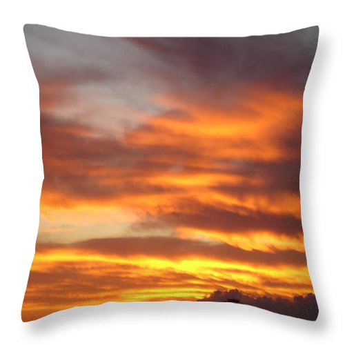 Seascape Throw Pillow featuring the painting Just Another Friday Morning by Roger Cummiskey