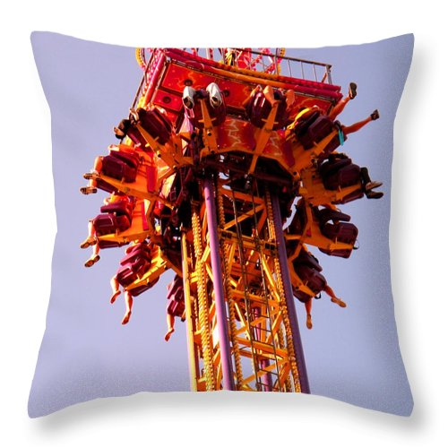 Canadian Throw Pillow featuring the photograph Just Before The Drop by Ian MacDonald