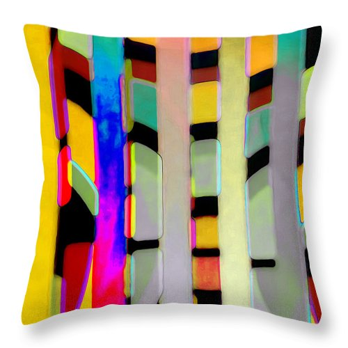 Abstract Throw Pillow featuring the photograph Just Color 2 by Linda Parker