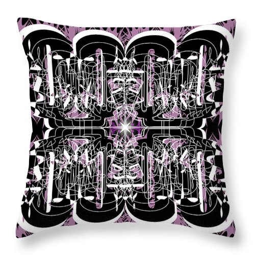 Abastract Throw Pillow featuring the digital art Just For Fun 3 by George Pasini