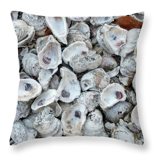 Shells Throw Pillow featuring the photograph Just For The Shell Of It by Nancy Turner