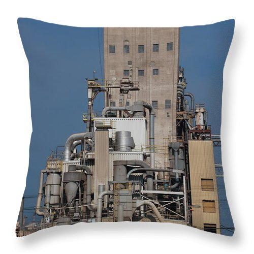 Pipe Throw Pillow featuring the photograph Just Lookit All Them Pipes by Grant Groberg
