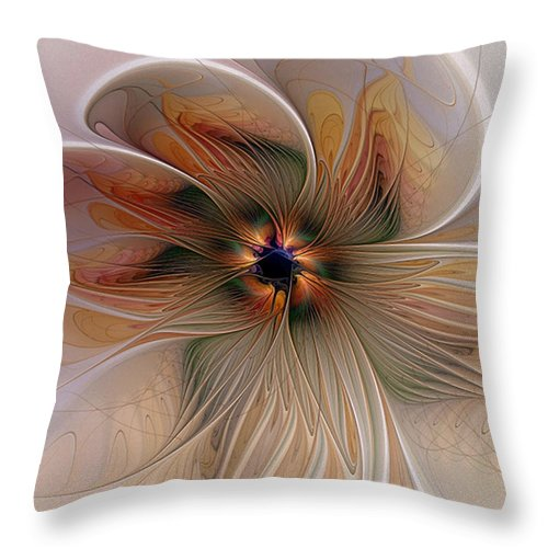Digital Art Throw Pillow featuring the digital art Just Peachy by Amanda Moore
