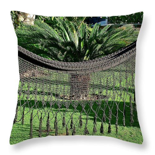 Garden Throw Pillow featuring the photograph Just Relax by Diana Hatcher