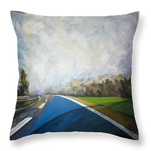 Landscape Throw Pillow featuring the painting Just That by Mima Stajkovic