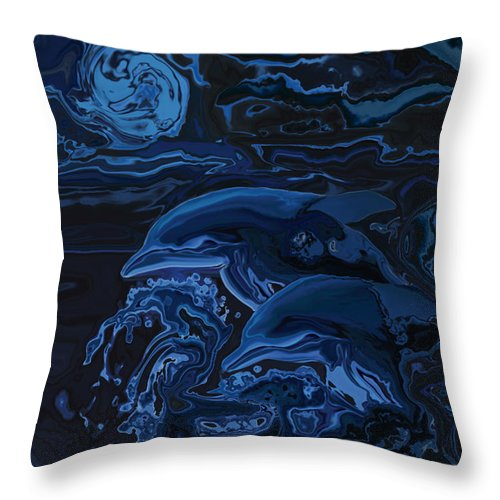 Animal Throw Pillow featuring the digital art Just The Two Of Us by Rabi Khan
