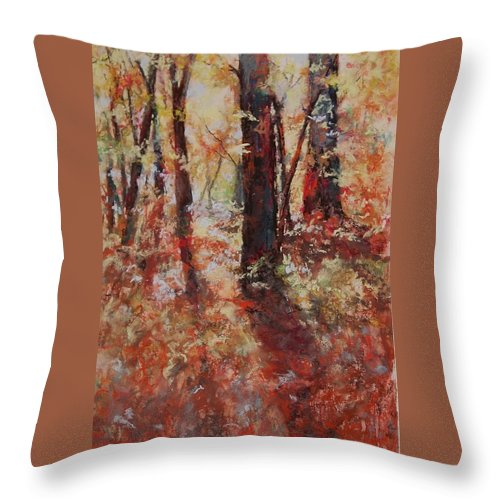 Landscape Throw Pillow featuring the painting Just Waking by Marlene Gremillion