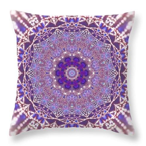 Throw Pillow featuring the digital art Jyoti Ahau 21 by Robert Thalmeier