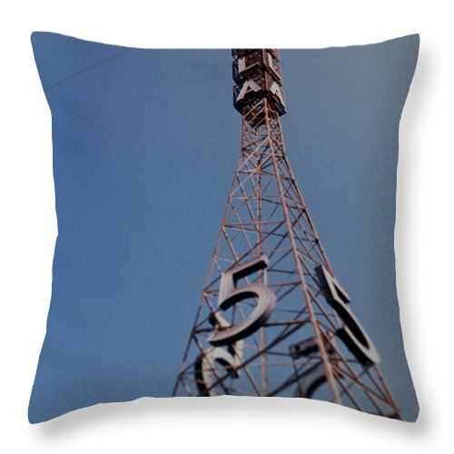 Hollywood Throw Pillow featuring the photograph K T L A Channel 5 by Rob Hans