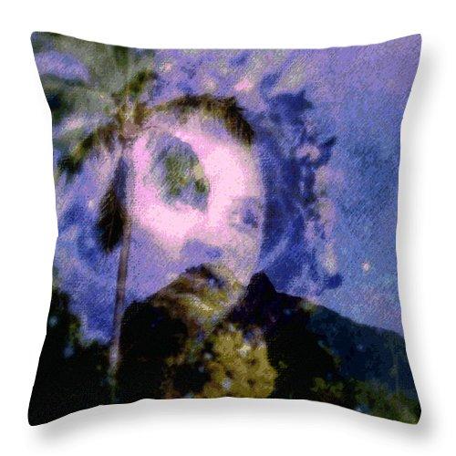 Tropical Interior Design Throw Pillow featuring the photograph Kaei Manehu Uila by Kenneth Grzesik