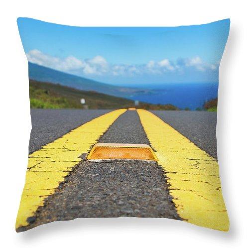 Aloha Throw Pillow featuring the photograph Kahikinui by Sharon Mau