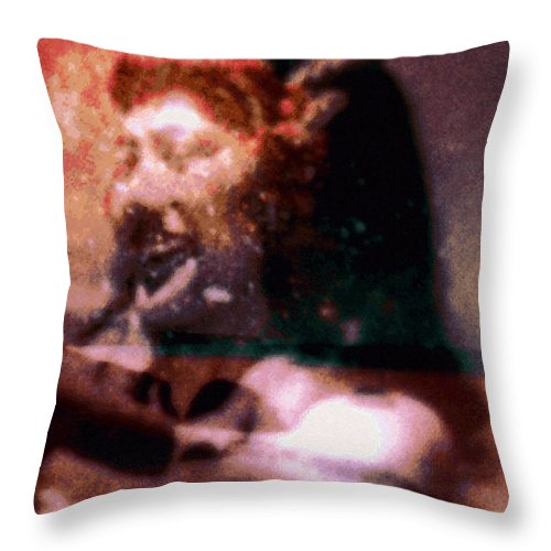 Tropical Interior Design Throw Pillow featuring the photograph Kahua O Malio by Kenneth Grzesik